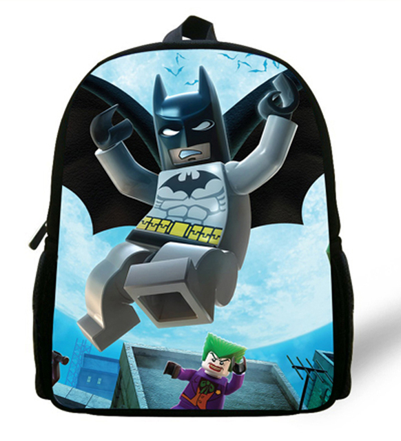 12 Inch Cartoon Backpack Batman Bag For Kids School Bags Boys Children Birthday