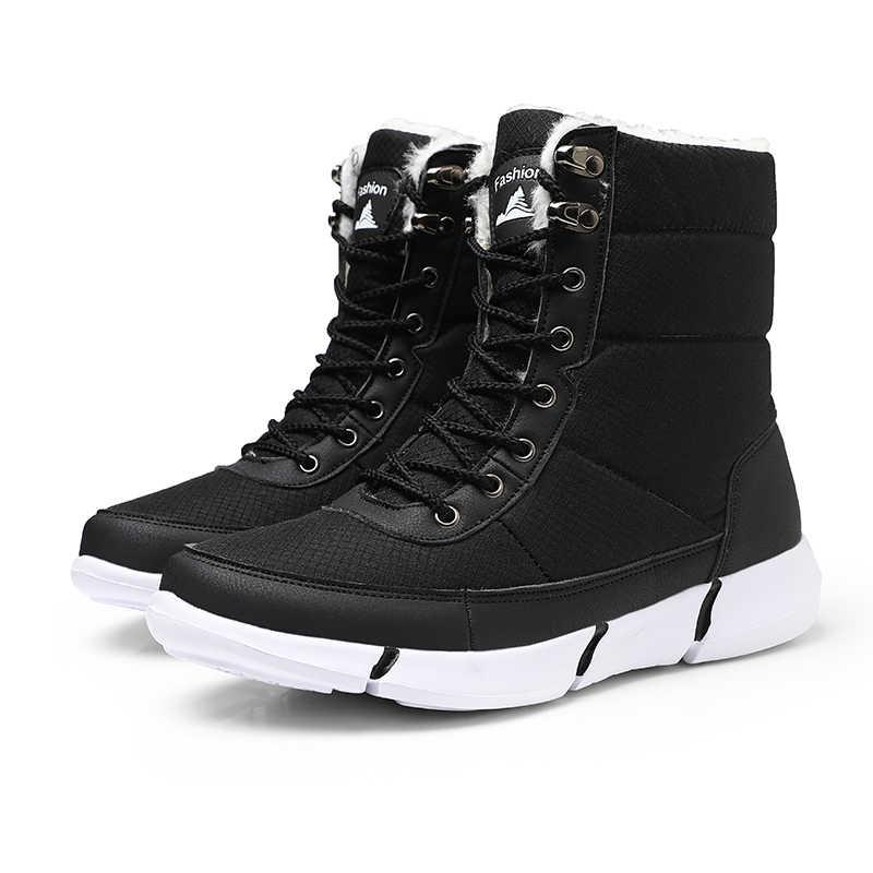 0a79c5f77 ZUNYU New Super Warm Men Boots platform snow boots for men thick plush  waterproof slip-resistant winter shoes Plus size 36-48