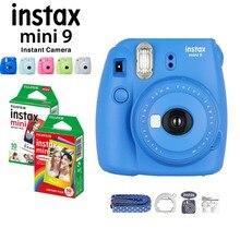 5 kleuren Fujifilm Instax Mini 9 Instant Camera + Fuji Instax Mini Film Wit/Regenboog 20 stks Fotopapier + Close Up Lens + Strap