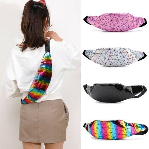 2019 Women Waist Fanny Pack Belt Bag Travel Hip Bum Bag Small Purse Chest Pouch Bag Female Geometric Waist Packs Lady Waist Bag