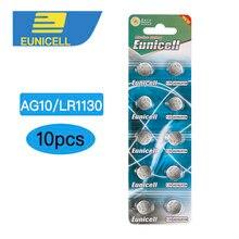 10 pièces AG10 G10A SR1130 pile LR1130 390A D189 SR 1130 LR54 1.5V pile bouton pile alcaline pour montre piles à distance
