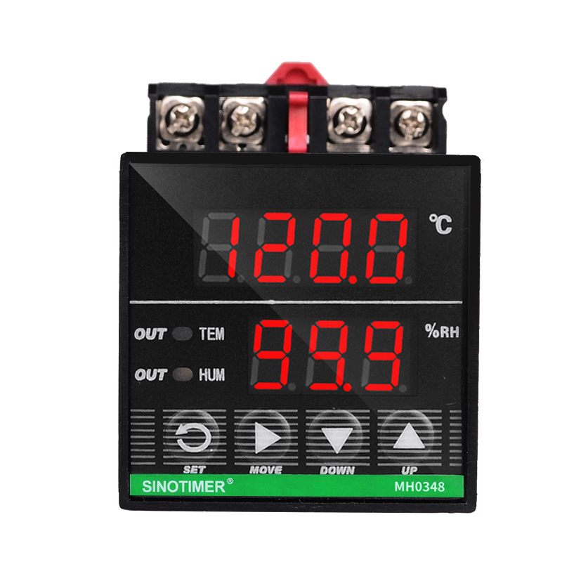 цена на Digital Temperature and Humidity Controller Relay Output Power 24V DC 3m Sensor for Heat Cool Humidification or Dehumidify