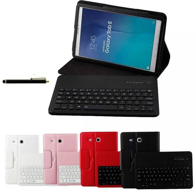 For Samsung GALAXY Tab E 9 6 T560 T561 Tablet Detachable ABS Bluetooth Keyboard Portfolio Leather