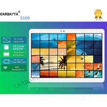 """Envío Libre de DHL Android 7.0 10.1 """"tablet pc Octa Core 4 GB de RAM 64G 32G ROM 10 Núcleos 1920*1200 S109 Embroma el Regalo MEDIADOS 4G LTE tabletas"""