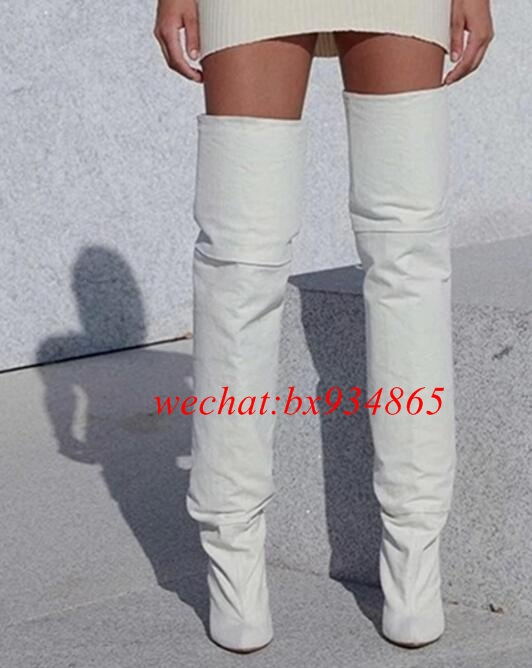 Online Get Cheap White Thigh High Boots -Aliexpress.com | Alibaba ...