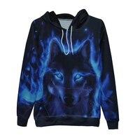 BKYOGA New Stylish Men Women 3d Sweatshirts Night Wolf Painted Autumn Hoodies Drop Ship