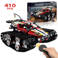 Technic RC TRACKED RACER Car Electric Motor Power Function Compatible Technic City Building Block Bricks Model Boys Toys
