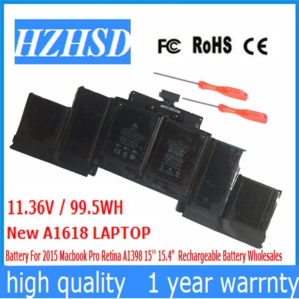11.38 V A1618 99.5WH Novo Original Bateria Do Portátil para Apple MacBook Pro 15