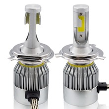 H1 H4 H7 H8 H9 H11 9005 9006 C6 led headlight kit  60W COB Car Headlight Bulbs 8000LM 6000K Fog Light Bulb 12v 24v