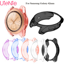 For Samsung Gear S2 frontier case cover For samsung Galaxy watch 42mm band soft TPU plated All-Around protective cases shell protective cover for samsung gear s3 frontier case tpu plated all around protective bumper shell smartwatch r760 cover frame