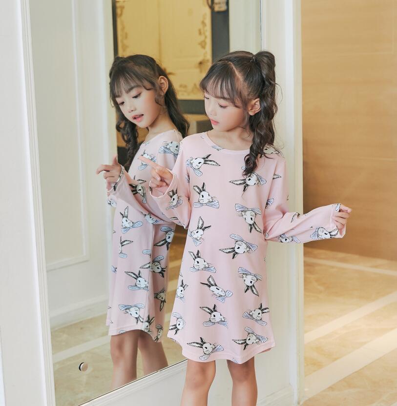 2018 Kinder Tuch 3d Druck Herbst Nachtwäsche Mädchen Baby Baumwolle Mädchen Nachtwäsche Kleid Kinder Party Prinzessin Nachthemd Nachthemd