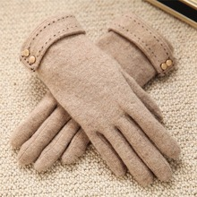 2020 5 T166 秋冬の女性のニットウール手袋タッチスクリーンヒョウ固体色は暖かい