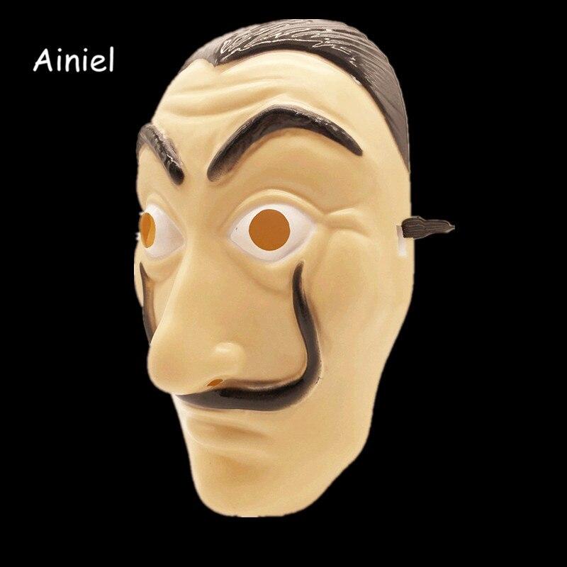 Ainiel Salvador Dali Face Masks Cosplay La Casa De Papel Dali Mask  Halloween Carnival Fancy Party Adult Men Women