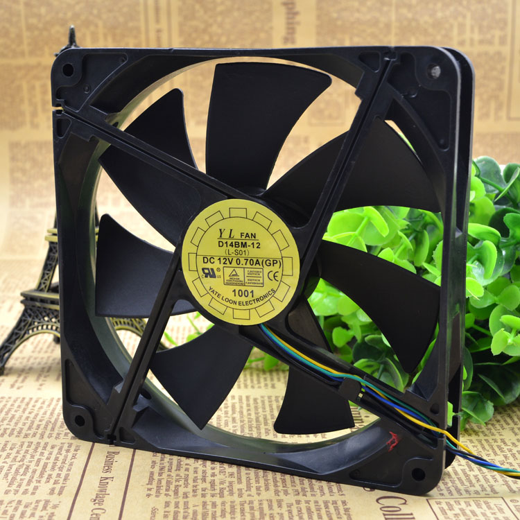 Free Delivery. 14 Cm/cm 14025 12 Where V0. 70 A Double Ball Bearing Power Supply Cooling Fan D14Bm - 12 PWM