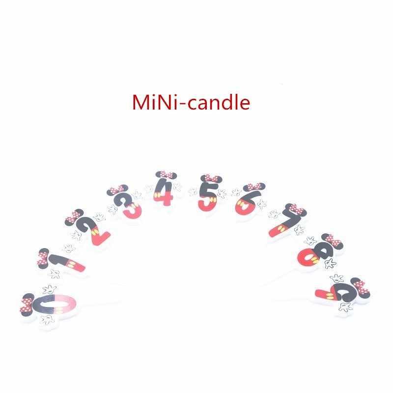 1 Pc Mini (0-9) digital Velas De Aniversário Happy Birthday Cake Topper Decorações Do Chuveiro Do Bebê Favor Do Partido Do Queque Bolo de Acessórios