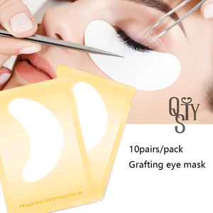 Image 2 - 10 pairs ריס הארכת נייר תיקוני בעין מורכב מדבקות 4 צבע ריס תחת רפידות העין Eyemascara נייר תיקוני טיפים מקל