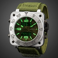 INFANTRY Mens Watches Top Brand Luxury Analog Digital Military Watch Men Tactical Square Big Watches for Men Relogio Masculino