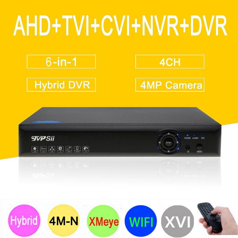 4MP Surveillance Camera Blue-Ray Hi3520D Xmeye 4M-N 4CH 4 Channel 6 in 1 Hybrid XVI CVI TVi NVR AHD CCTV DVR Free shipping free shipping 10pcs aod484 d484 n channel fet