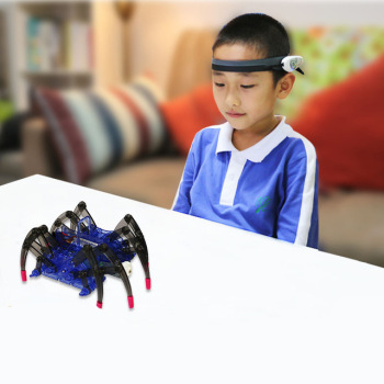 Children's Educational Toys Brain Radio Wave Idea Control DIY Spider Intelligence Robot Toys Brain Wave Detector1+Toy Spider