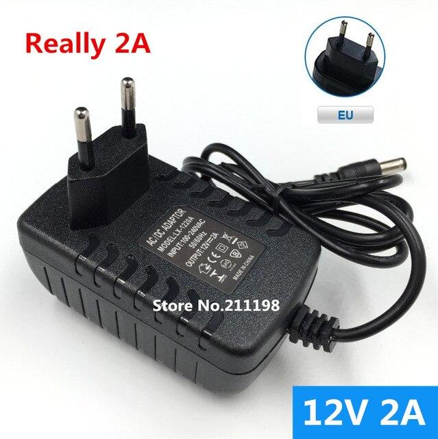 12V2A AC 100V-240V Converter Adapter DC 12V 2A 2000mA Power Supply EU Plug 5.5mm x 2.1-2.5mm for LED CCTV