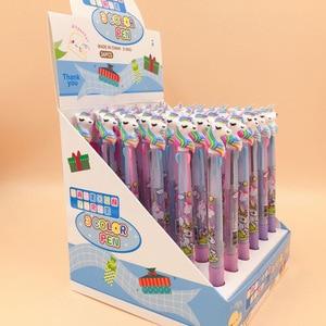 Image 3 - 13 Uds o 36 uds/lote de bolígrafos de Gel de unicornio de colores bolígrafo de 0,5mm bolígrafo de tinta negra regalo de escritura