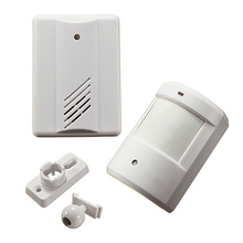 wireless infrared alarm Door Bell Driveway Patrol Garage Infrared wireless Doorbell Alarm System Motion Sensor(China)