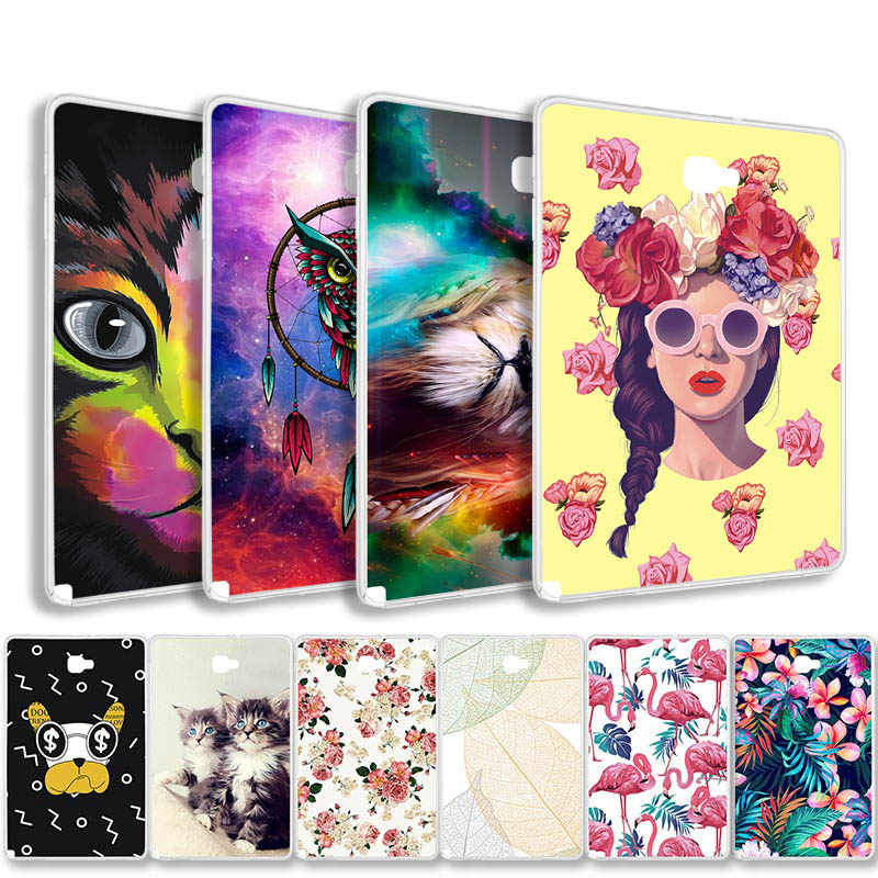 Soft TPU Table Case For Samsung Galaxy Tab A 10.1 Funda For A6 2016 SM-T580 Tab E 9.6 T560 P580 T280 T385 8.0 T375 Back Cover
