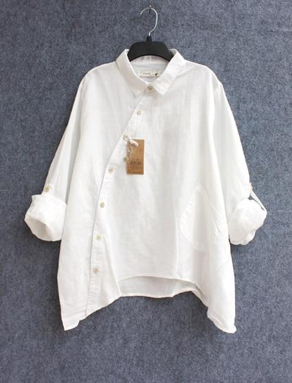 most fashionable huge discount terrific value Plus Size Women Vintage Cotton linen Clothes White Linen Big ...