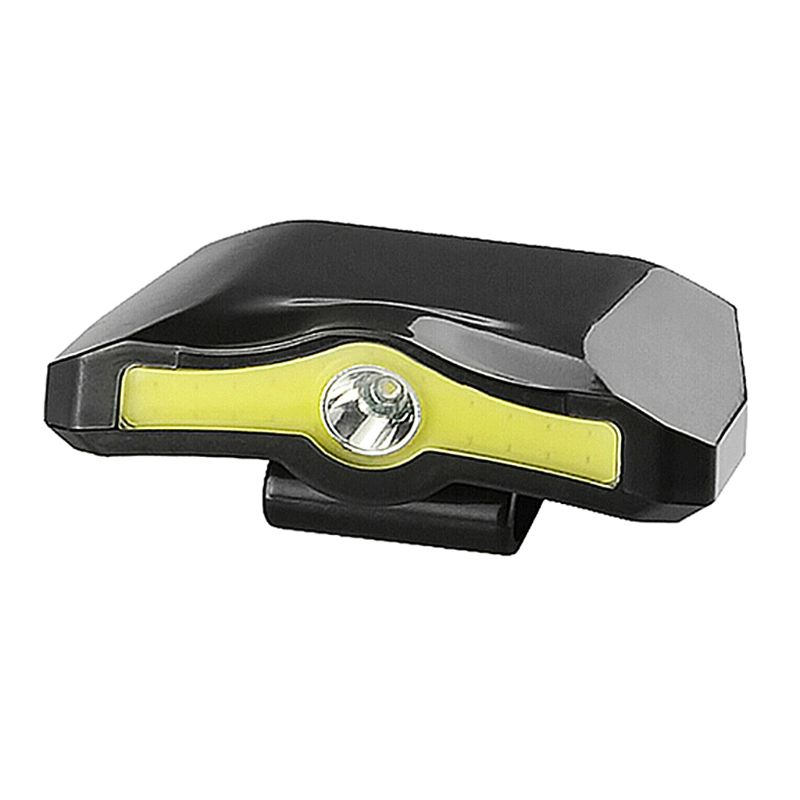 XPE + COB LED Headlamp Cap Light 90 Degree Rotatable Clip-on Hat Light Powered Camping Cycling Fishing Head Lamp