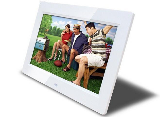 10 inch LCD Digital Photo Frame HD 1024x600 Multi-functional Built-in MP3/MP4 player remote control white /black color