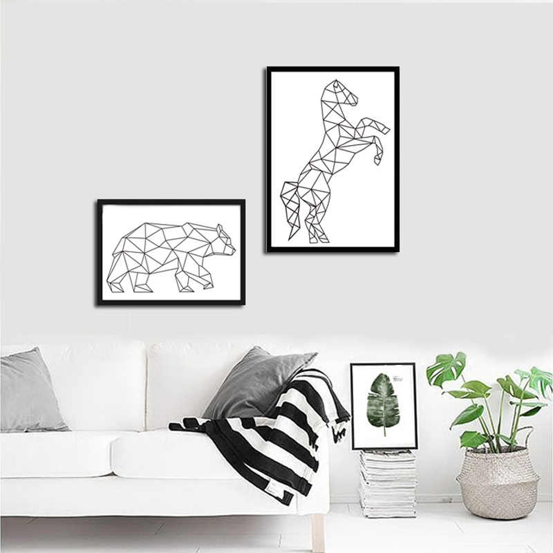 Abstract Line Animals Poster Prints Bird Heart Modern Canvas Painting On The Wall For Living Room Home Decor Simple Art Pictures