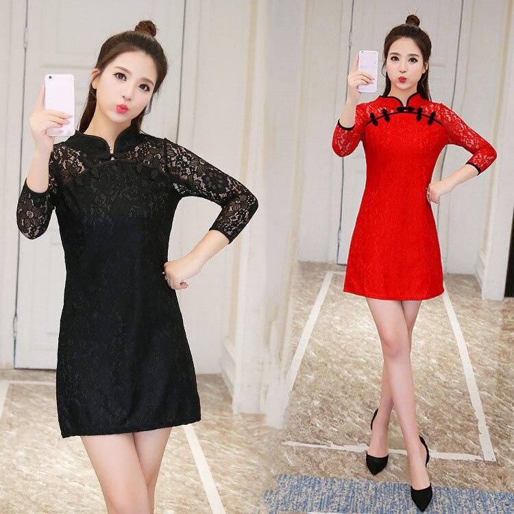 Chinese Style Sexy Cheongsam Dress Japanese kawaii Girls Harajuku Vintage Gothic Lace Loose Lolita Dresses Big Size