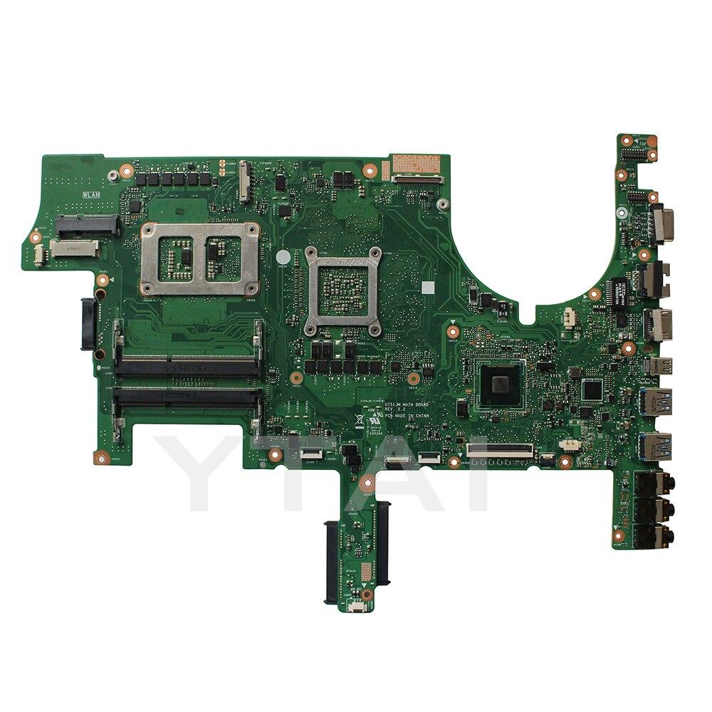 G751JM материнская плата для ноутбука ASUS G751J G751JY G751JT G751JS G751JM Материнская плата ноутбука REV2.2 i7-4710HQ Процессор USB3.0 материнская плата