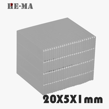 imanes 30Pcs 20x5x1 Neodymium Magnet Permanent N35 NdFeB Super Strong Powerful  Magnetic Magnets HE-MA Disc 20mmx5mmx1mm