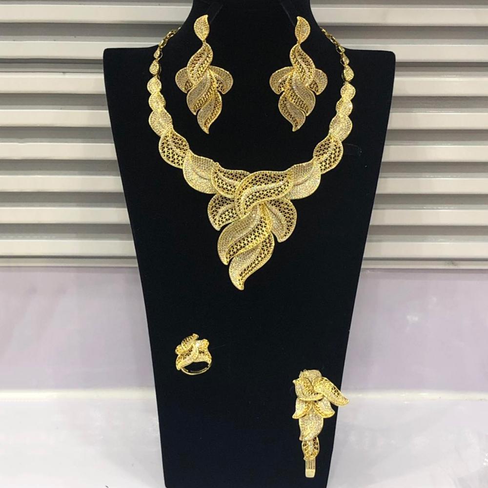 GODKI Luxury Feather Leaf Nigerian Choker Jewelry sets For Women Wedding Cubic Zircon CZ Dubai Gold Bridal Jewelry Set 2019GODKI Luxury Feather Leaf Nigerian Choker Jewelry sets For Women Wedding Cubic Zircon CZ Dubai Gold Bridal Jewelry Set 2019