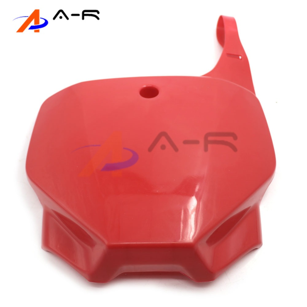Red Plastic Front Number Plate Cover Plate Panel For Yamaha YZ 85 125 250 250F 400F 426F 450F Dirt Bike Motocross Enduro front plastic number plate fender cover fairing for honda crf100 crf80 crf70 xr100 xr80 xr70 style dirt pit bike