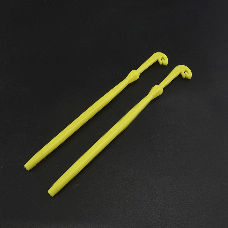 2pcs Easy Hook Loop Tyer & Disgorger Tool Tie Fast Knot Tying Tool For Fly Fishing Hook Tools Line Tier Kit Yellow Plastic