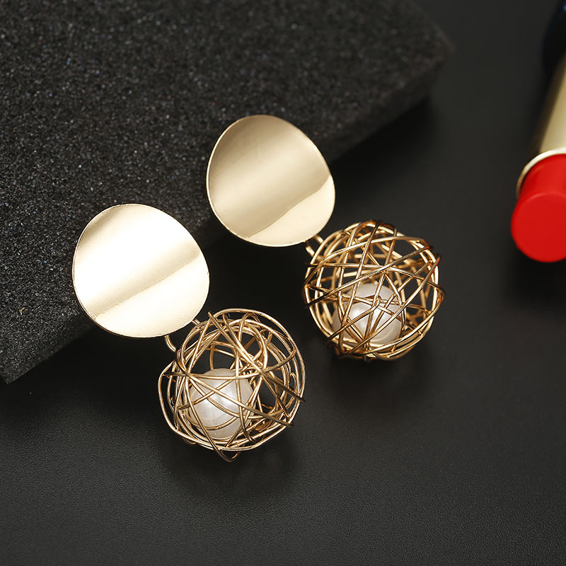 Party Earrings For Women, New Arrival Earrings For Women, Earrings For Women, Party Earrings, New Arrival Earrings, Golden Color Party Earrings For Women, Golden Color Earrings For Women, earrings for women online, buy earrings online cheap, cheap earrings online, fashion earrings online, Ball Earrings For Women