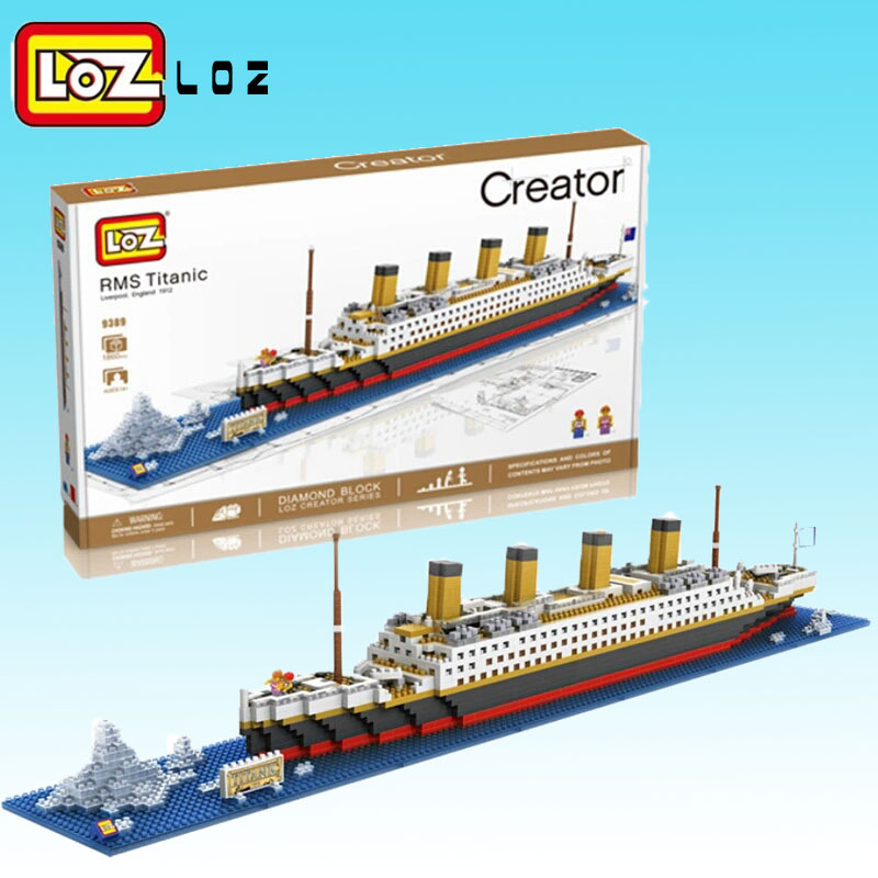 LOZ Mini Blocks Diamond 3D Blocks Educational Toy Titanic Model Bricks DIY Boat Building Blocks Titanic Ship Block For Children