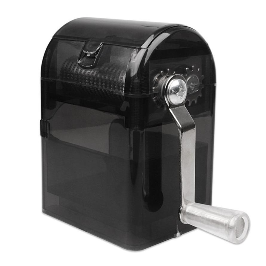 1PC Metal Hand-Cranked Crusher Tobacco Cutter Grinder Hand Muller Shredder Smoking Case D1220