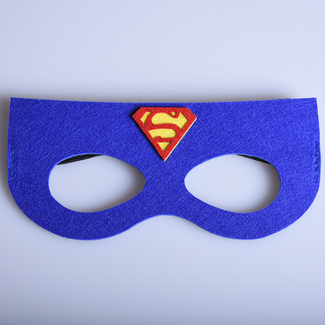 1pc blue super hero masks superman captain america mask - Masque superman ...
