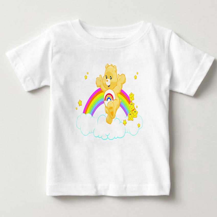 T Shits Printing Short Sleeve Casual O-Neck Cotton Cute Care Bears T Shirt For kids Short Sleeve T Shirt Care Bear girl tshirt