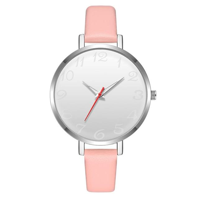 new fashion women leather bracelet watches casual watches 2018 Geneva Quartz Wri
