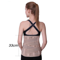 Wholesale Adjustable Orthopedic Posture Corrector Brace Lower Back Waist Trimmer Belt Lumbar Support Belt Corset for Men Women