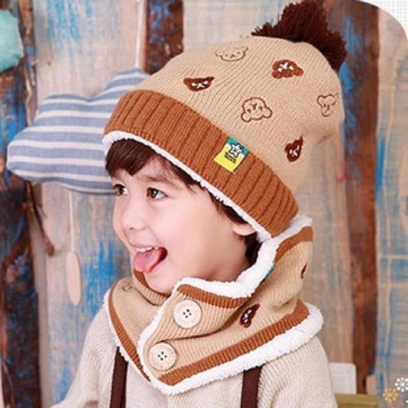 Acryl Wolle Kinder Cartoon Gestrickte Hut Kappe Winter Skullie & Beanie Scarff Motorhaube Homme Enfant Chapeau Kinder Muts Für Baby Jungen