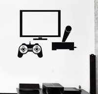 Computer Vinyl Muursticker Video Game Gamer PC Play Room Boy Tiener Muurschilderingen Muurtattoo Winkel Kantoor Kamer Home decoratie