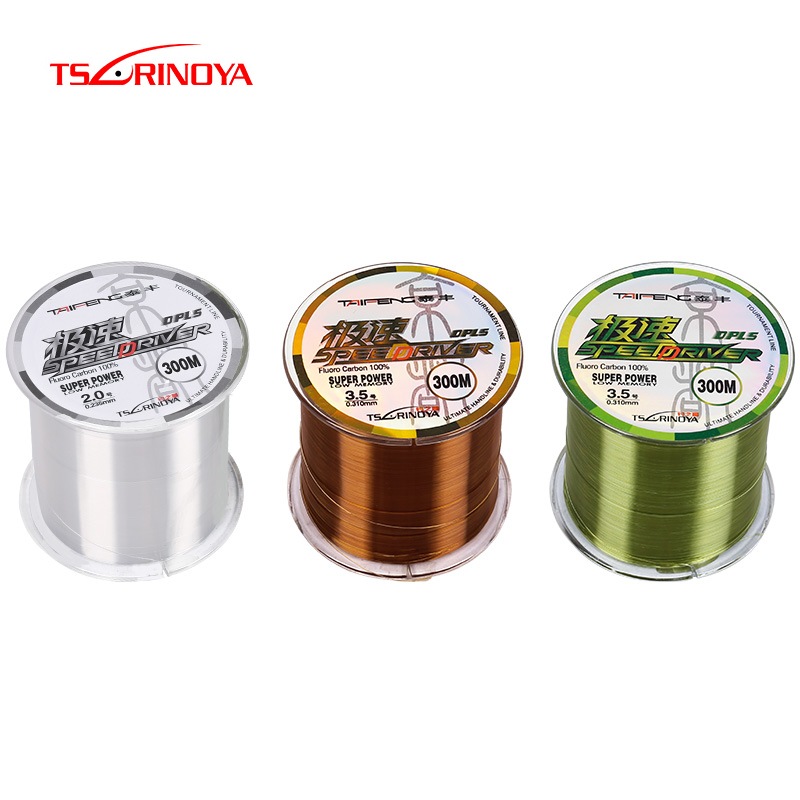 TSURINOYA TAIFENG Nylon Fishing Line 300m Fluoro Carbon Nylon Sink Line High Quality Super Strong Power Saltwater Fishing Line image