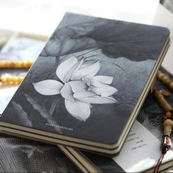 """""""Lotus Flower"""" szkicownik puste papiery pamiętnik kieszonkowy dziennik notatnik do szkoły papiernicze prezent Zeszyty Artykuły biurowe i szkolne -"""