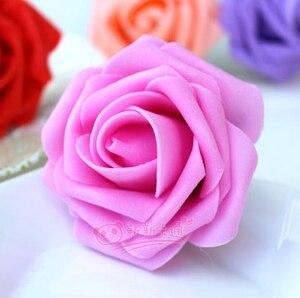 500 шт. X(6 см) один Пена розовыми цветами стволовых в 12 различных Цвета для выбора свадебные цветы.* по EMS - Цвет: hot pink