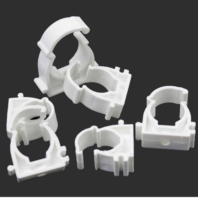 10Pcs New16-32mm Water Pipe Clamp Single U Plastic PPR Lock PVC Pipe  Support Holder for Garden Bathroom kitchen pipe fixing